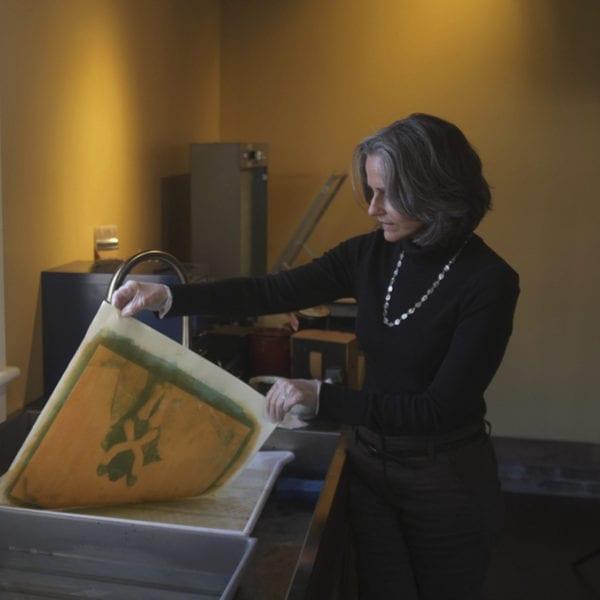 Diana Bloomfield in the darkroom